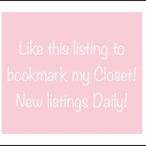 Pls like new listing 2 continue receiving updates!